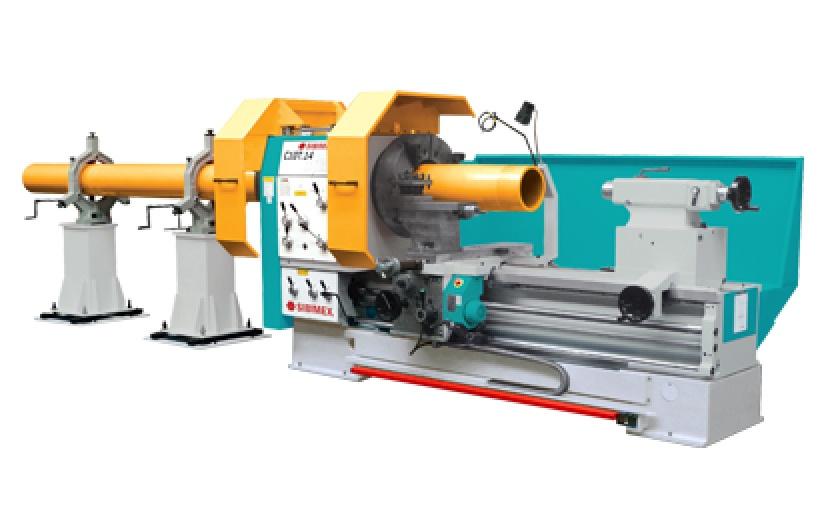 Lathes for machining of pipes